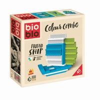 MINI BOX BLANC VERT BLEU 40 BR - 40 BRIQUES 3 COULEURS