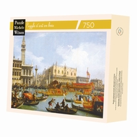 <b>Hand-cut art wooden jigsaw puzzle of 750 pieces - Made in