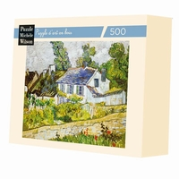 <b>Hand-cut art wooden jigsaw puzzle of 500 large pieces -
