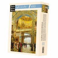 Hand-cut art wooden jigsaw puzzle of 650 pieces - Made in