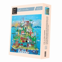 <b>Hand-cut art wooden jigsaw puzzle of 650 pieces - Made in