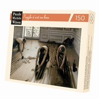 <b>Hand-cut art wooden jigsaw puzzle of 150 pieces - Made in