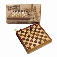 Jeu d'échecs de voyage de 18cm. De petite taille, 18 X 8,5 X