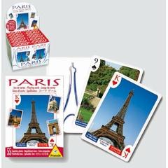 Jeu de 55 cartes sur Paris. Chaque carte montre une