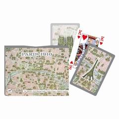 Coffret de 2 jeux de cartes de bridge. <br><br> Décor