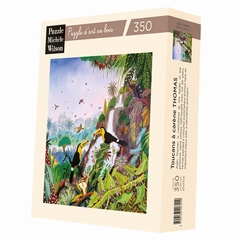 <b>Hand-cut art wooden jigsaw puzzle of 350 large pieces -