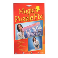 The adhesive sheets are applied to the back of your puzzle,