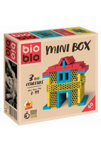 MINI BOX JAUNE ROUGE BLEU 40 B - 40 BRIQUES 3 COULEURS