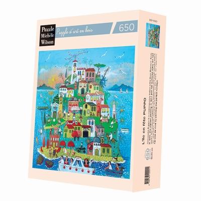 <b>Puzzle d'art en bois de 650 pièces, découpé à la main en