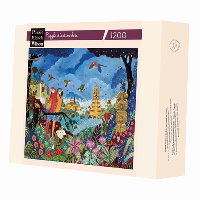 <b>Hand-cut art wooden jigsaw puzzle of 1200 pieces - Made