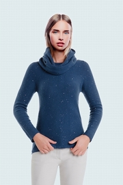 100% Cashmere woman allover sequined sweater. Slightly
