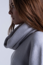 Cashmere & Lurex English-knit sweater with removable roll