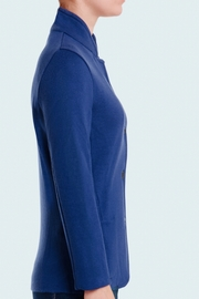 High neck tailored woman jacket. 100% Cashmere 2-pockets
