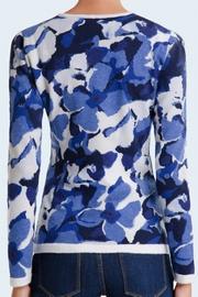 100% Cashmere crew neck hand made intarsia. Tones of blue