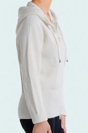 Pull Femme zippé à capuche en maille anglaise 100%