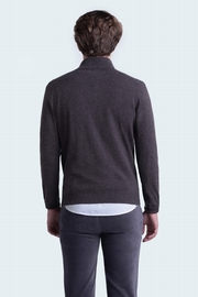 100% cashmere men half zip mock neck. Contrasting color