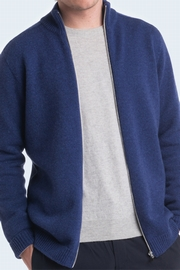 2-Ply cashmere zip-up cardigan for men. Second color inside