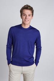 Solid and superfine 80% Cashmere 20% Silk crew neck sweater