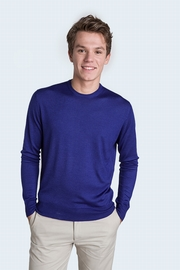 Solid and superfine 80% Cashmere 20% Silk crew neck sweater