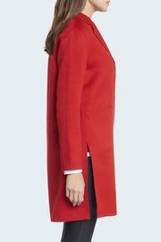 100% Cashmere trapeze shape double face Jersey coat.