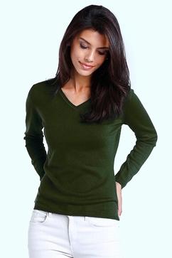 100% Cashmere small V neck sweater. Single ply, slightly
