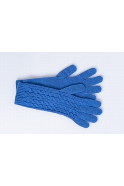 100% Cashmere little cables gloves. One size only (TU) .