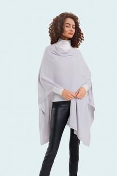 Cape Femme sans coutures en maille 100% cachemire. Taille