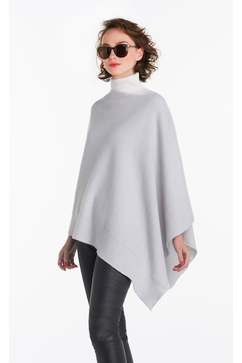 Woman seamless cashmere poncho. One size only (TU). Entirely