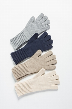 100% Cashmere knitted plain gloves. One size only (TU).