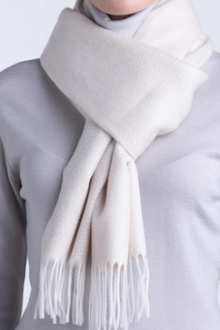 100% Cashmere plain woven scarf. For Men and Ladies.