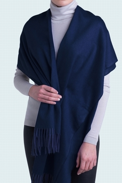 100% Cashmere 2-tone woven stole. For Ladies. One size only