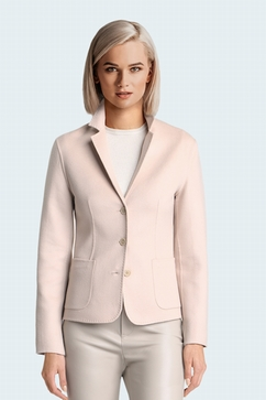100% Cashmere Hand-sewn double face fitted jacket. Entirely
