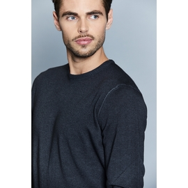Pull col rond en laine by Spontini pour homme. - Manches