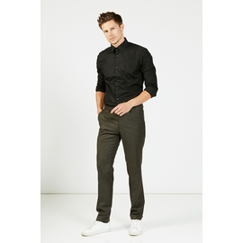 Pantalon slim, by spontini - coupe ajustée - 100% laine -