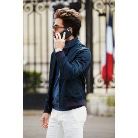 Blouson zippé by Spontini pour homme. - Coupe ajustée. - Col
