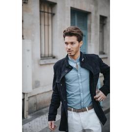 Blouson zippé en cuir by Spontini pour homme. - En peau