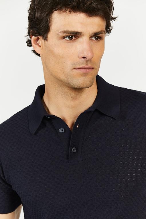 Polo by Spontin - Tissu fantaisie - coupe droite - avec bord