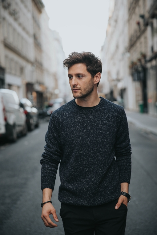 Pull by Spontini pour homme. - Manches longues. - Col rond -