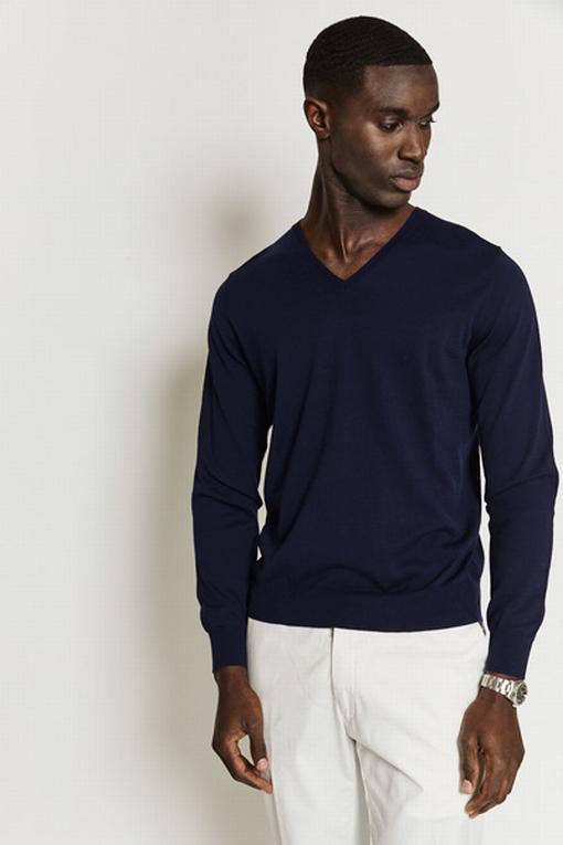 Pull en coton by Spontini pour homme. - Manches longues. -
