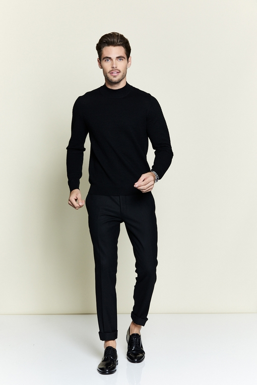Pull col cheminée by Spontini pour homme. - Manches longues.