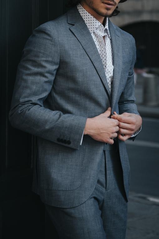 Costume by spontini - coupe ajustée - avec 2 poches plaquées