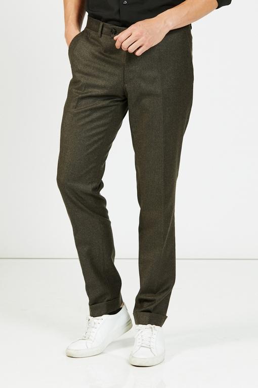 Pantalon slim, by spontini - coupe ajustée - 100% laine -