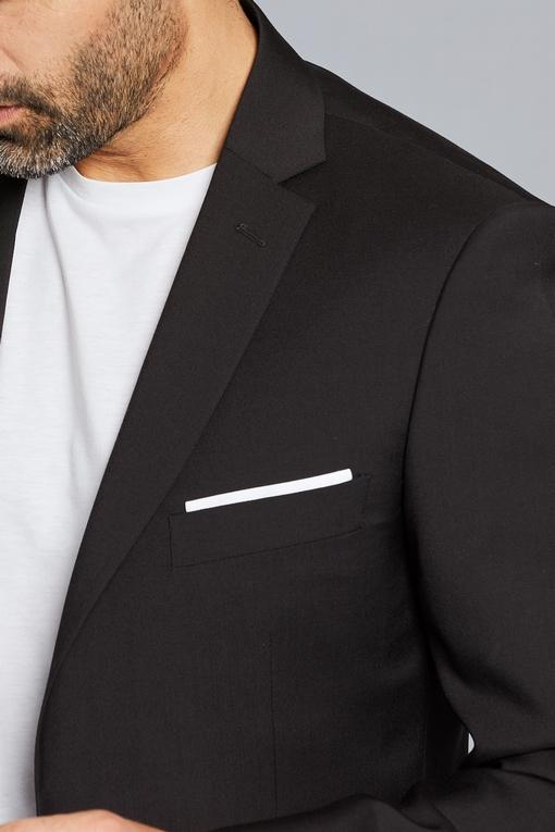 Veste Spontini en laine - revers a cran tailleurs (8cm) . C