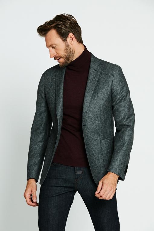 Veste en laine by Spontini pour homme. - 2 poches tickets -
