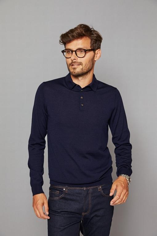 Polo en coton et soie by Spontini pour homme. - coupe