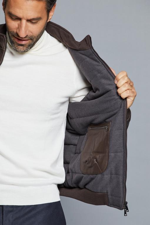 Blouson en cuir  - Entièrement doublé, le blouson a 2 poches
