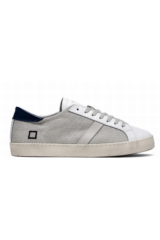 Sneaker basse en tissus tecnique blanc tressé. La pointe,