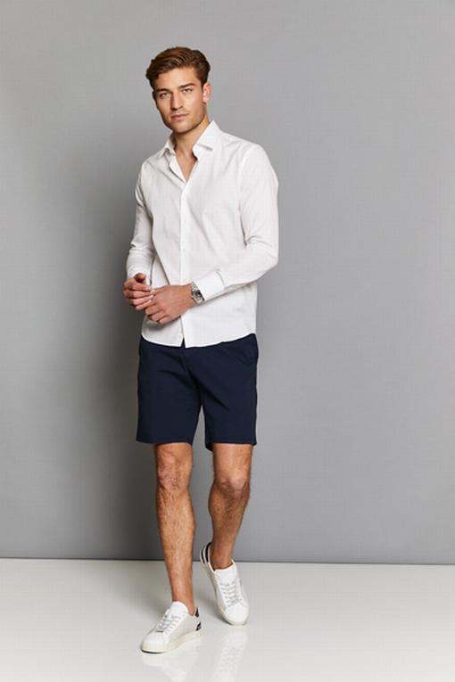 Bermudas en coton stretch by Spontini pour homme. - En coton