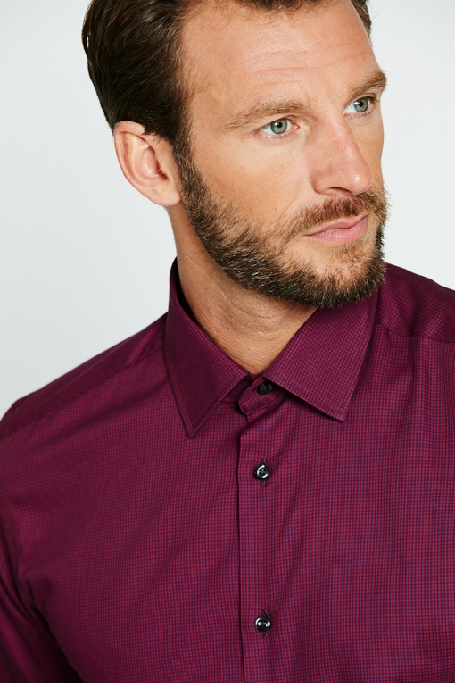 Chemise slim-fit coton pour homme. - Manches longues