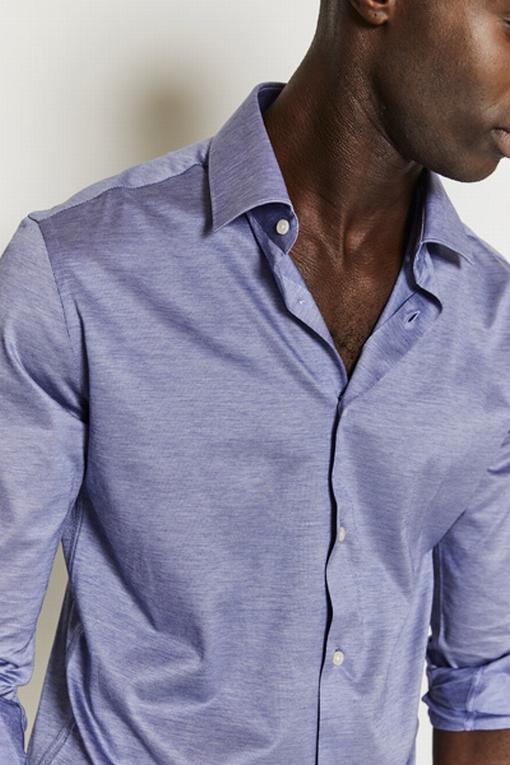 Chemise slim-fit imprimée coton pour homme. - Manches